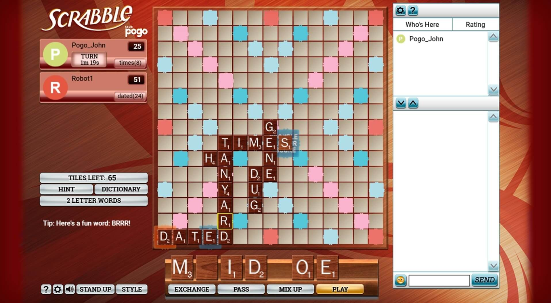 Scrabble Free Online Multiplayer Word Game Pogo